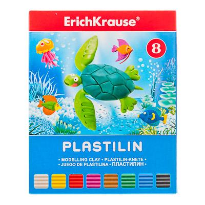 """239-002 Erich Krause Пластилин 8 цветов 144 грамма в картонной упаковке, со стеком """"Artberry"""", 30651"""