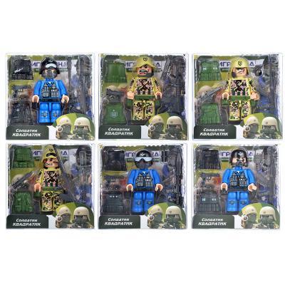 296-014 ИГРОЛЕНД Солдатик Квадратик, пластик, 4,5х1,5х8см, 6 дизайнов