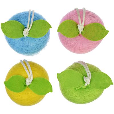 361-105 Мочалка-спонж в виде яблока, 40г, 4 цвета