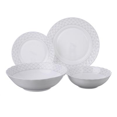 """818-416 Набор столовой посуды 19 предметов, опаловое стекло, MILLIMI """"Лаура"""""""