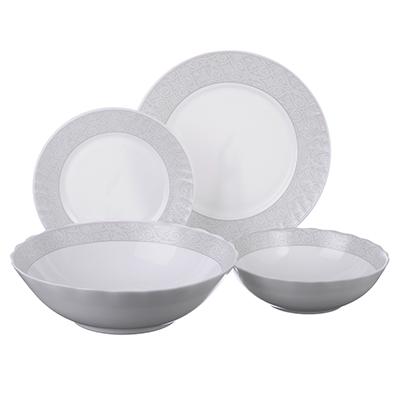 818-428 MILLIMI Беата Набор столовой посуды, опаловое стекло, 19 пр., H19DT-17068A