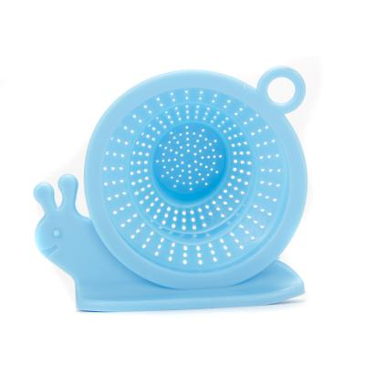 411-017 Фильтр-сетка для раковины/ванной в виде улитки, силикон, складная, 10,5x9x5,5см, 3 цвета