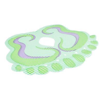 403-087 Коврик для ванны, фигурный, ПВХ, 3 дизайна, VETTA