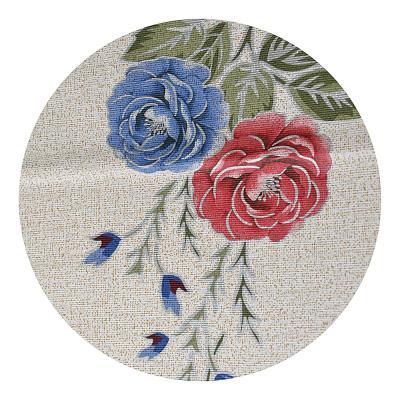 479-208 Скатерть на стол виниловая, клеенка тиснёная с ажурной каймой, 110х140см, VETTA