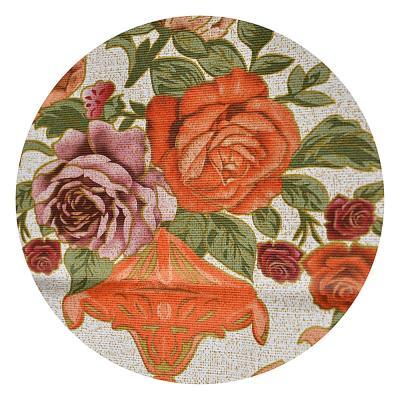 479-214 Скатерть на стол виниловая, клеенка тиснёная с ажурной каймой, 140х180см, VETTA