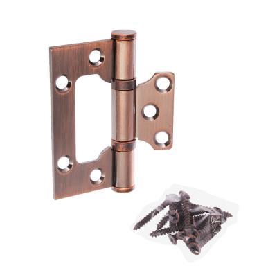 620-205 KORAL Петля накладная (БЕЗ ВРЕЗКИ) 3x2,5x2,5 ac, медь