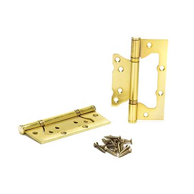 620-212 KORAL Петля накладная (БЕЗ ВРЕЗКИ) 5x3x2,5 sb, матовое золото
