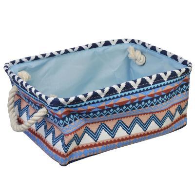 457-368 VETTA Корзина текстильная с ручками, лён, 33x23x13см, 3 дизайна