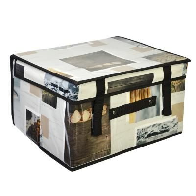 457-369 VETTA Короб складной 35x30x20см, спанбонд, 3 дизайна