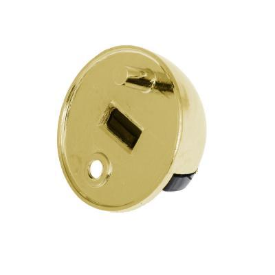 602-112 Упор дверной, с шипом, полусфера, металл, хром