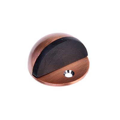 602-113 Упор дверной, с шипом, полусфера, металл, медь