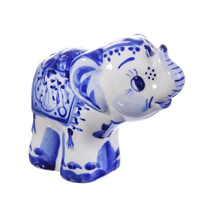 509-755 Фигурка керамическая в виде Слоника, 9,5х6х11см, Р-06