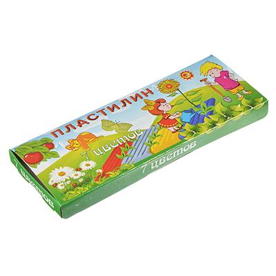 239-006 Пластилин 7 цветов 140 грамм в картонной упаковке с замочком, восковая основа