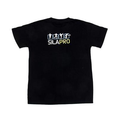 184-043 SILAPRO Футболка дизайнерская мужская, 100% хлопок, размер L, 210гр/м2, черная с принтом