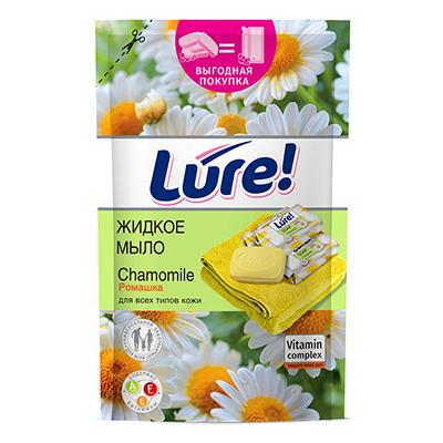952-079 Мыло жидкое LURE витаминное Ромашка, дой-пак, 450мл, арт.05695/09931