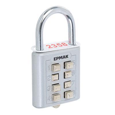 673-026 ЕРМАК Замок навесной кодовый Ш 35*В 36 мм, дужка 20*22 мм, кнопки, 60 гр