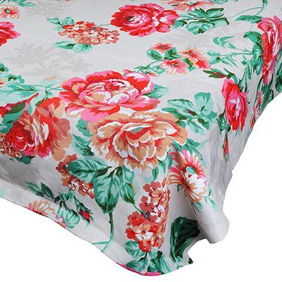 """435-063 Скатерть на стол, хлопок, 150х150см, """"Цветы"""""""