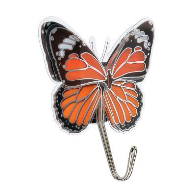 """440-337 Крючки самоклеящиеся 2 шт, ПВХ, ВЕСЕЛЫЙ РОДЖЕР 3D """"Бабочки"""""""