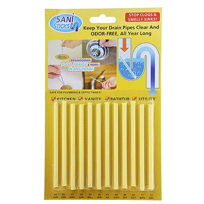 542-119 Средство для профилактики засоров и прочистки труб, антибактериальный эффект, лимон, блистер