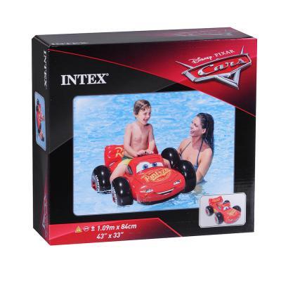 060-001 Надувная машинка для плавания INTEX 57516 Тачки 109х84 см, от 3 лет