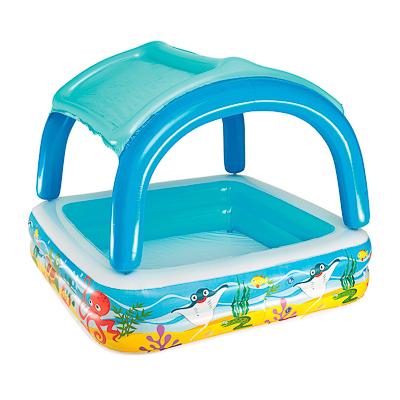 013-015 BESTWAY Надувной бассейн с навесом от солнца,147 х 147 х 122 см, 265 л,52192