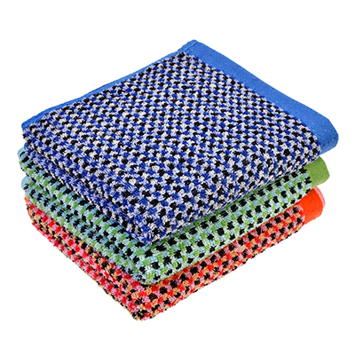"""492-037 Полотенце для рук махровое, хлопок, 34х75см, 3 цвета, """"Клетка"""""""