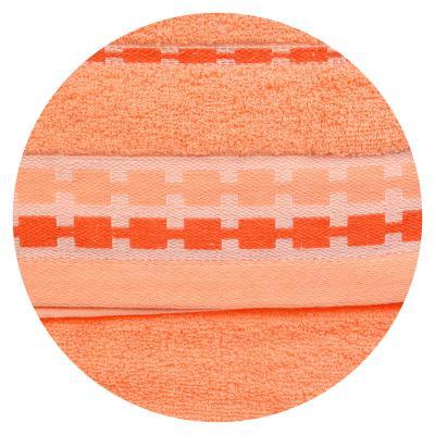 492-039 Полотенце махровое, 100% хлопок, 34х73см, однотонное с бардюром, 4 цвета