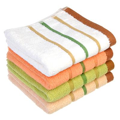 """492-046 Полотенце для рук махровое, хлопок, 32х74см, 4 цвета, """"Полоска"""""""
