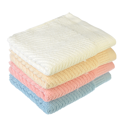 """492-053 Полотенце для рук махровое, хлопок, 4 цвета, 33х73см, """"Волна"""""""