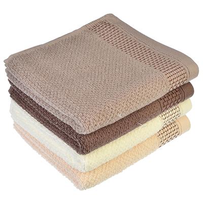 "492-055 Полотенце для рук махровое, хлопок, 33х72см, 4 цвета, ""Шоколад"""
