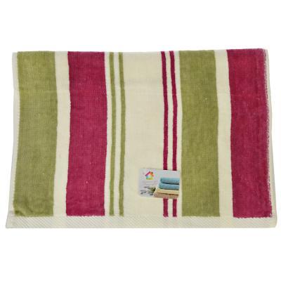 """492-060 Полотенце для рук махровое, хлопок, 33х75см, 2 цвета, """"Полоска"""""""