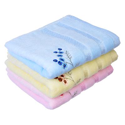 """492-067 Полотенце для рук махровое в подарочной упаковке, хлопок, 33х75см, 3 цвета, """"Веточки"""""""