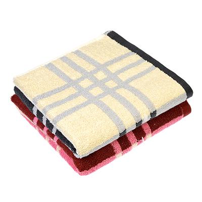 """492-077 Полотенце для рук махровое, хлопок, 33х75см, 2 цвета, """"Клетка"""""""