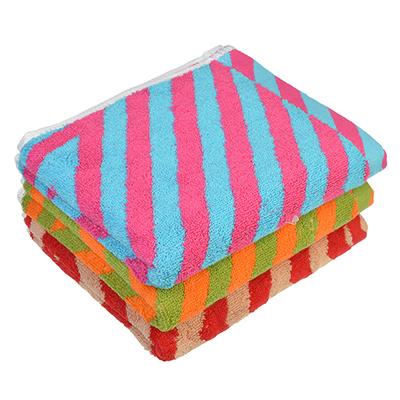"""492-080 Полотенце для рук махровое, хлопок, 34х73см, 3 цвета, """"Полоска"""""""