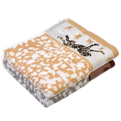 """492-082 Полотенце для рук махровое, хлопок, 30х70см, 2 цвета, """"Леопард"""""""