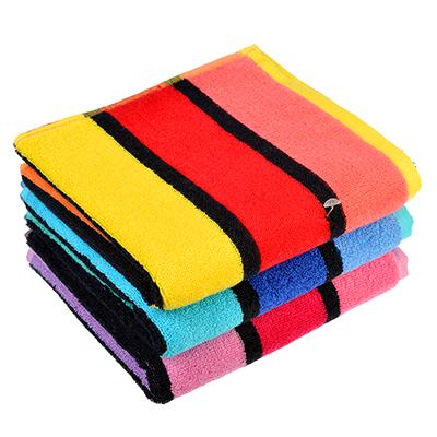 """492-087 Полотенце для рук махровое, хлопок, 34х75см, 3 цвета, """"Полоска"""""""