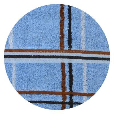 """489-133 Полотенце для лица махровое, хлопок, 45х90см, 4 цвета, """"Клетка"""""""