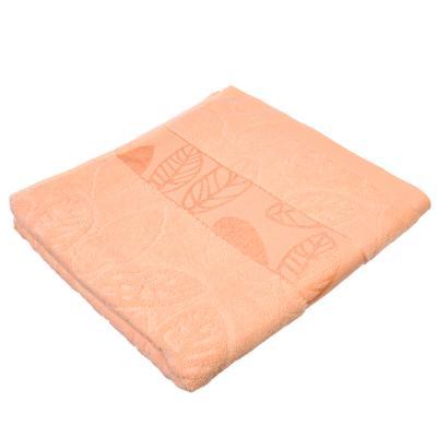 """484-835 Полотенце банное махровое, хлопок,  70х140см, 4 цвета, """"Листья"""""""