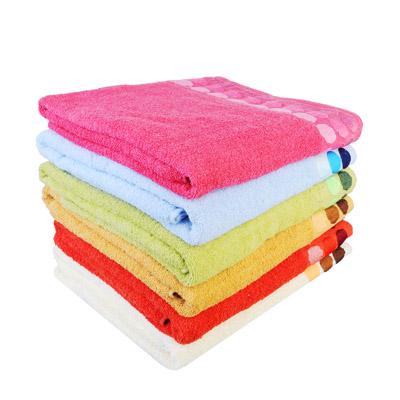 """484-842 Полотенце банное махровое, хлопок, 100х150см, 6 цветов, """"Круги"""""""