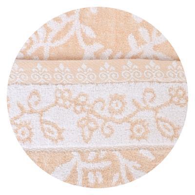 """489-134 Полотенце для лица махровое,50% бамбук 50% хлопок,  40х90см, 3 цвета, """"Цветы"""""""
