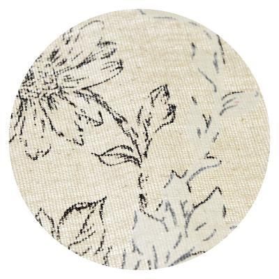 435-073 Скатерть на стол льняная с кружевом, полиэстер, 150х230см