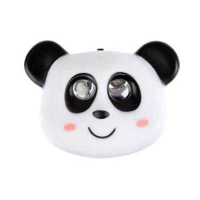 198-122 Фонарь налобный детский Панда 2 ярк. LED, 3xAAA, 7х6х3.5см