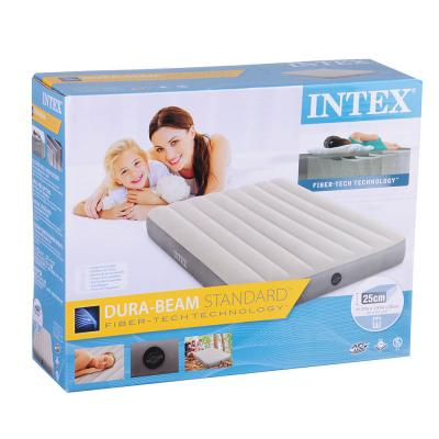 108-026 INTEX Кровать надувная FULL DELUXE SINGLE-HIGH, 137х191х25см ,64102