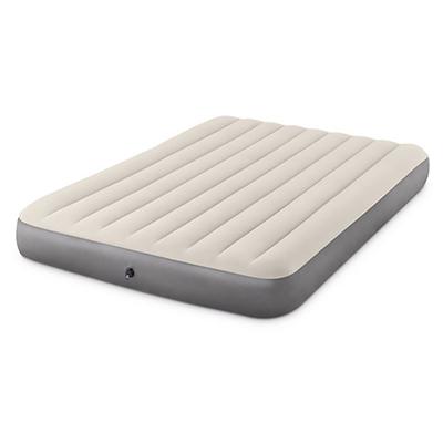 108-027 INTEX Кровать надувная QUEEN DELUXE SINGLE-HIGH,152х203х25см, 64103