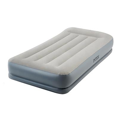 """108-028 Кровать надувная со встроенным насосом, 220 В, 99х191х30 см, INTEX """"TWIN MID-RISE"""", 64116"""
