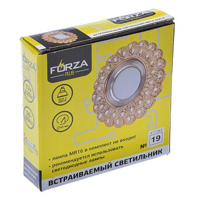 417-063 FORZA Светильник встраиваемый, № 19 лампа MR16, цоколь GU 5.3, пластик, d11,5см ±0,5см