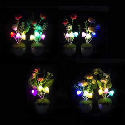 417-069 Ночник светодиодный Букет, пластик, 220 В
