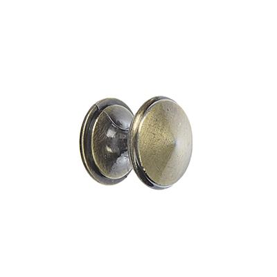 621-094 Ручка мебельная кнопка К-05(AB) бронза