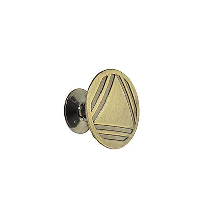 621-096 Ручка мебельная кнопка К-06(АВ) бронза
