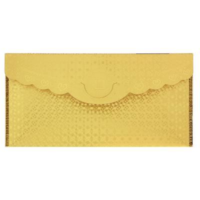 521-080 Конверт для денег золотой, пластик, 9x18см, 2 дизайна, дизайн ГЦ